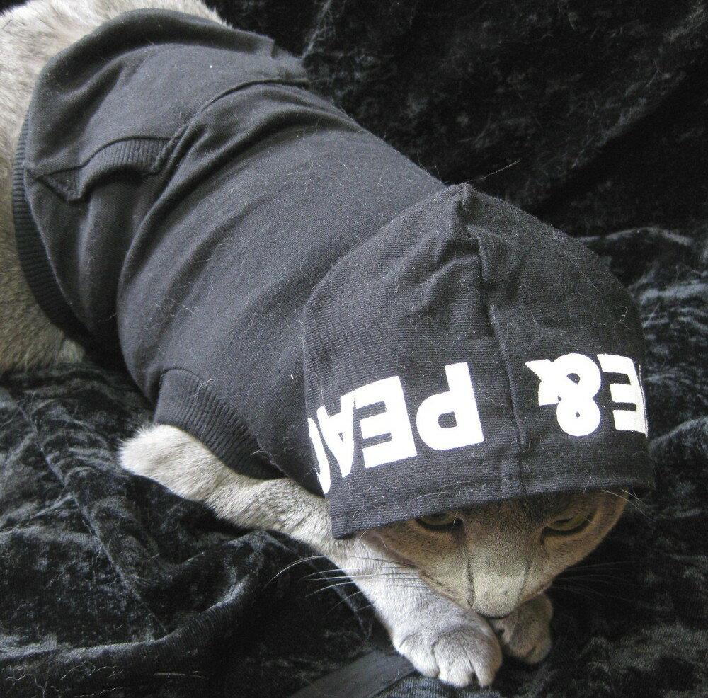 小さなおやつをつめてお出かけしようLOVE&PEACEポップパーカー猫&犬対応【メール便なら送料210円!!】