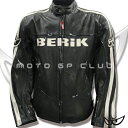 BERIK Berwick mesh riding leatherette jacket  LJ-8945-BK