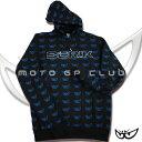 made in Italy 12モデルBERIK Men'sパーカーBLACK○1112-BK