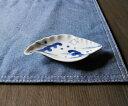 伊万里焼 波千鳥 貝形手塩皿(豆皿)