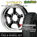 タイヤ ホイール 4本セット ファーム オリジナル J-TRAD DCリム グロスブラック 16×5.5J/5H-25 ヨコハマ ジオランダー MT+ ワイルドトラクション 195R16 ( yokohama wild traction マッドテレイン )