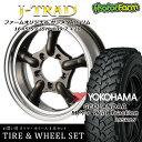 タイヤ ホイール 4本セット ファーム オリジナル J-TRAD DCリム ガンメタリック 16×5.5J/5H+20 ヨコハマ ジオランダー MT+ ワイルドトラクション 195R16 ( yokohama wild traction マッドテレイン )