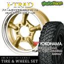 タイヤ ホイール 4本セット ファーム オリジナル J-TRAD DCリム ゴールド 16×5.5J/5H+20 ヨコハマ ジオランダー MT+ ワイルドトラクション 195R16 ( yokohama wild traction マッドテレイン )