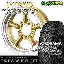 タイヤ ホイール 4本セット ファーム オリジナル J-TRAD DCリム ゴールド 16×5.5J/5H-25 ヨコハマ ジオランダー MT+ ワイルドトラクション 195R16 ( yokohama wild traction マッドテレイン )