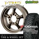 タイヤ ホイール 4本セット ファーム オリジナル J-TRAD マットブロンズ 16×5.5J/5H+20 ヨコハマ ジオランダー MT+ ワイルドトラクション 195R16 ( yokohama wild traction マッドテレイン )