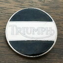 トライアンフ ビンテージ ピンバッジ ホワイト/ブラック Triumph Vintage Pin 英国旧車 biker バイク バイカー