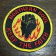 ノーザン・ソウル キープ・ザ・フェイス アイロンパッチ NORTHERN SOUL KEEP THE FAITH Iron Patch