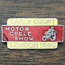アールズコート モーターサイクル ショー ロンドン 1980 ピンバッジ EARLS COURT M