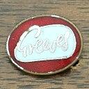 ショッピングレッド グリーブス ロゴ ピンバッジ レッド Greeves Logo Pin Red