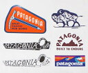 訳あり パタゴニア ステッカー 6種セット PATAGONIA STICKERS SET ピトン バイソン アックスメン ボードショーツロゴ 波 シール 新品