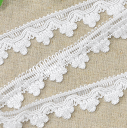 [there is reason] A lot of 10 yards of 65% of fringe blade 2cm width white OFF!
