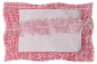 Russell Center タックフリル lace pink and 10 yards