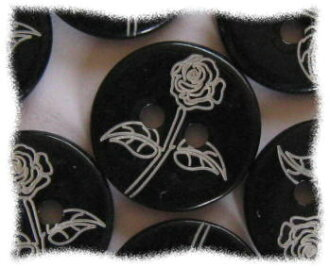 Price ↓ elegant shell buttons 10-shell of the black rose-1.5 cm in diameter