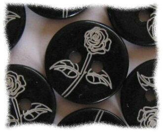 Price ↓ elegant shell buttons 10-shell of the black rose-1.5 cm in diameter