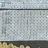 【NEWデコ】スパンコール4センチ幅/1M単位/シルバー/ホワイトゴールド/ブラック