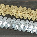 [NEW デコ] 2 centimeters of spangles width /1M unit / silver & gold which lengthen