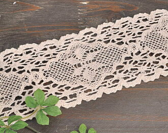 Lot of 10 yards wide hemp torchon lace 7 cm width Canon