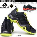 アディダス 防水トレッキングシューズ テレックス AX2R ゴアテックス アウトドア メンズスニーカー adidas TERREX AX2R GTX CP9680 S80910 黒