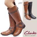 クラークス レディース ロングブーツ ミントクリーム 533F ジョッキーブーツ レザー 本革 Clarks Mint Cream