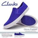 クラークス レディース レザースニーカー グローブパペット 816F 本革 パンチング スリッポン フラットソール Clarks Glove Puppet