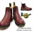 ドクターマーチン チェルシーブーツ 2976 チェリーレッド サイドゴアブーツ 幅広 メンズ レディース 11853600 Dr.Martens CHELSEA BOOT CHERRY RED