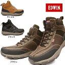 エドウィン 防水アウトドアシューズ EDS-9121 トレッキング メンズスニーカー ハイカット EDWIN 軽量 登山 ハイキング