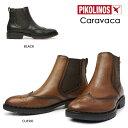 ショッピング即納 ピコリノス ショートブーツ レディース サイドゴア W2U-8656 PK790 レザー マニッシュブーツ PIKOLINOS Caravaca