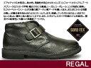 リーガル 防水モンクストラップブーツ 144W 防滑幅広 コンフォート ゴアテックス レザー 本革 雪国 冬用 メンズブーツ 紳士ブーツ REGAL