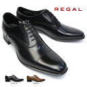 リーガル 靴 725R エレガントなメンズビジネスシューズ ストレートチップ 細めスタイル フォーマル ロングノーズ 紳士靴 本革 REGAL Made in Japan