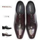 リーガル 靴 727R エレガントなメンズビジネスシューズ レースアップ REGAL 細めスタイル フォーマル REGAL Made in Japan