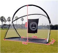 送料無料大型練習用ゴルフネット固定用ペグ付携帯バック付トレーニング用ゴルフネットGN008
