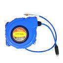 ドラムリールエアーホース エアーホースリール 12X8X15M 300PIS対応品 エアホース GQ-15M青