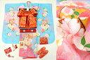 新作 七五三 7歳用女の子高級着物フルセット【百日草】◆水色系 鞠に鈴◆311