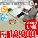 【ポイント4倍】【送料無料】■い草 8畳カーペット 畳の上 春夏用 上敷き 涼感 天然い