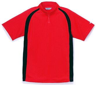 女短袖 polo 衫 zip Polo 衫紅東麗物質女 5-9 號大小吸收汗水功能材料