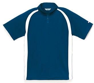 女短袖 polo 衫 zip Polo 衫海軍東麗物質女 5-9 號大小吸收汗水功能材料