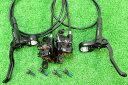 【即納】【軽量】シマノ(SHIMANO) 高性能 油圧ディスクブレーキ BL-MT200 BR-MT200 ローター無 前後セット ブラック★自転車パーツ