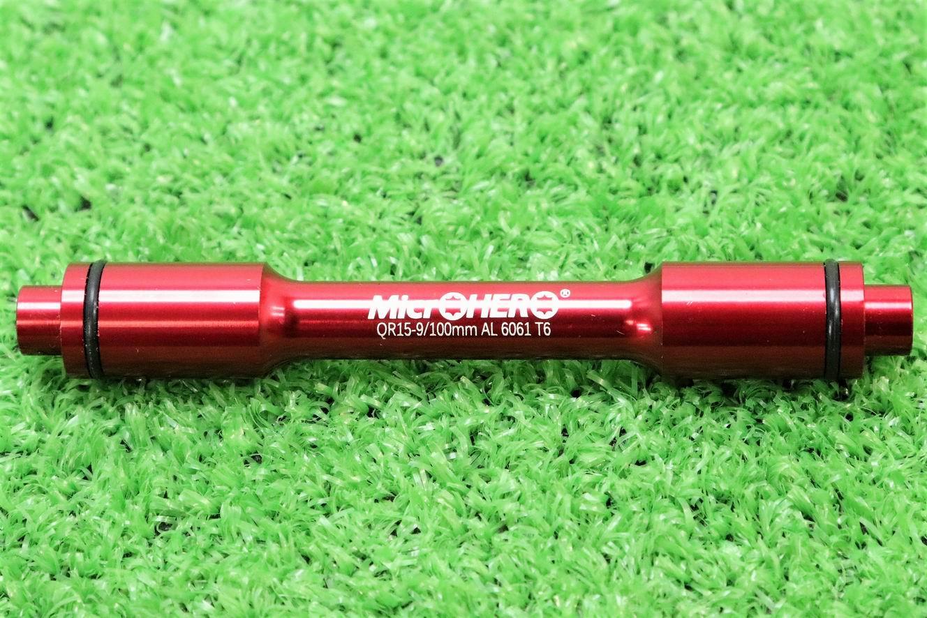 【即納】MicrOHERO マイクロヒーロー QR15-9mm エンド幅 100mm アクスル 変換アダプタ アルミ6061 T6 CNC★自転車 自転車パーツ