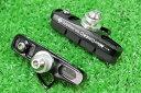 MicrOHERO カーボンリム用 キャリパーブレーキ カートリッジ式 ブレーキシュー ブラック CNCアルミ合金ハウジング シマノ/スラム互換 ロード用