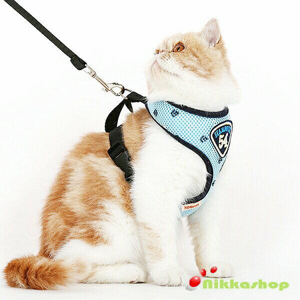 猫用ハーネス胴輪安全首輪猫リードペット用ベーシック首輪歩行補助引っ張り防止脱走防止超軽量(S-Mサイ