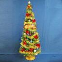 クリスマスツリー 210cmファイバーツリーセット12 LED48球付き