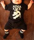 NINJA X ベビー ロンパース Baby 赤ちゃん 新生児 ニンジャエックス Original SK8 Monster Black 70,80サイズ SKATE SK8 PUNK HIPHOP SURF