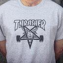 Thrasher Magazine(US企画)Tシャツ スラッシャー Skategoat T-Shirt Grey スケボー SKATE SK8 スケートボード HARD CORE PUNK ハードコア パンク HIPHOP ヒップホップ SURF サーフ スノボー スノーボード Snowboard NINJA X
