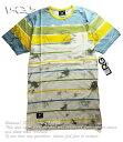 LRG Tシャツ ボーダー エルアールジー Topper SS Pocket Tee Tie Dye Yellow/Blue スケボー SKATE SK8 スケートボード PUNK パンク HIPHOP ヒップホップ SURF サーフ スノボー スノーボード Snowboard NINJA X
