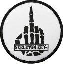 Skeleton Key MFG パッチ ワッペン 刺繍 スケルトンキー Middle Finger Patch 3