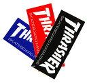 THRASHER MAGZINE(スラッシャー)中判 ステッカー シール Skate Mag Medium Sticker(Black/Red/Blue)スケボー SK8 スケートボード HARD ..
