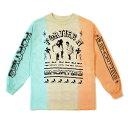 40s Shorties(フォーティーズアンドショーティーズ)ロンT ロングTシャツ 長袖 Get Down Long Sleeve T-shirt Teal/Tan/Peach(Tie-Dye)スケボー SKATE SK8 スケートボード HARD CORE PUNK ハードコア パンク HIPHOP ヒップホップ SURF サーフ レゲエ reggae スノボー