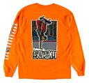 Scram Earthskii Skateboards(スクラム)ロンT ロングTシャツ 長袖 Keenen Long Sleeve T-Shirt Orange スケボー SKATE SK8 スケートボード HARD CORE PUNK ハードコア パンク HIPHOP ヒップホップ SURF サーフ レゲエ reggae スノボー スノーボード Snowboard NINJA X