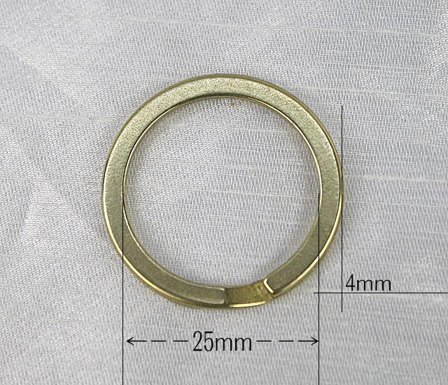 真鍮ダブルリング25mm平ダールブラック。バレ...の紹介画像3