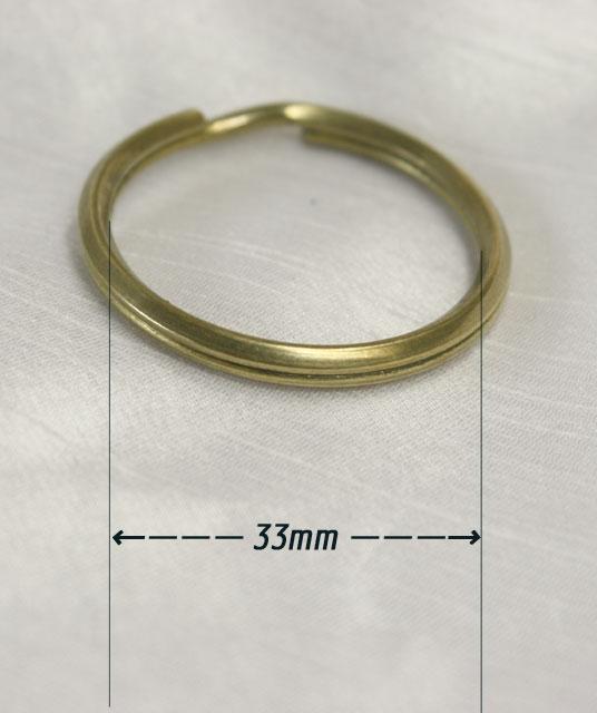 真鍮ダブルリング33mm。バレル研磨。国産品。の紹介画像3